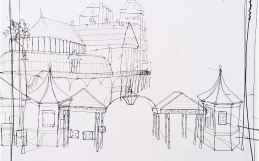 Artist Helaina Sharpley at the Bandstand 3-4 April