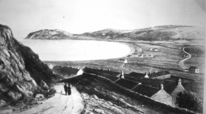 Site of original Tabernacl seen from Orme, permission Conwy County archives